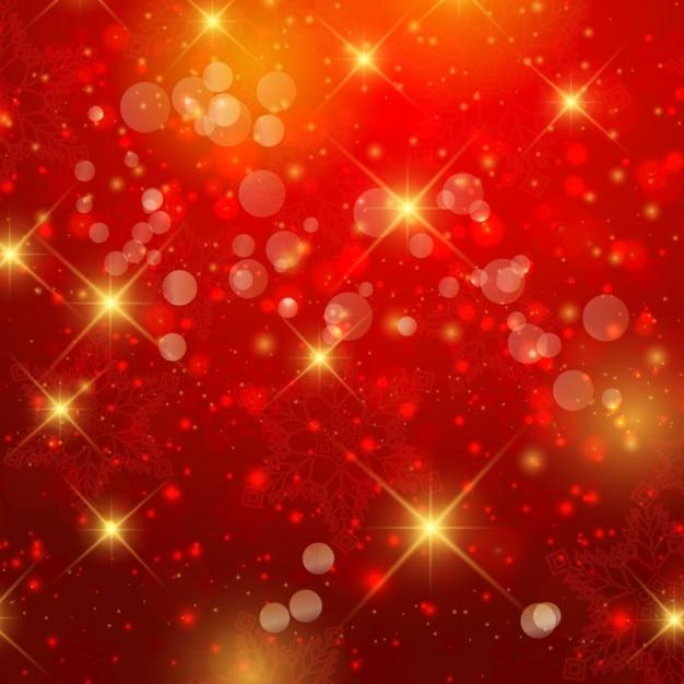 Złote I Czerwone Bokeh Darmowych Wektorów