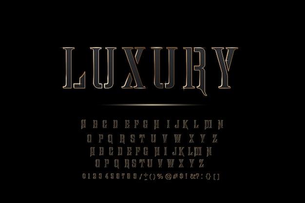 Złote litery alfabetu Premium Wektorów