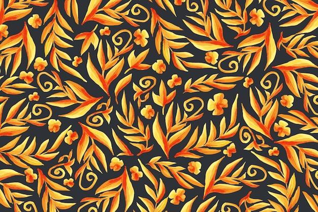 Złote Ozdobne Tapety Kwiatowe Darmowych Wektorów