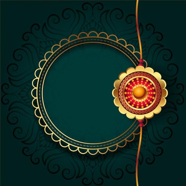 Złote Rakhi Za Festiwal Rakha Bandhan Darmowych Wektorów