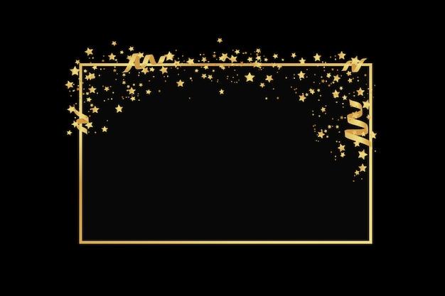 Złote Ramki Brokat Tekstura Na Białym Tle Premium Wektorów