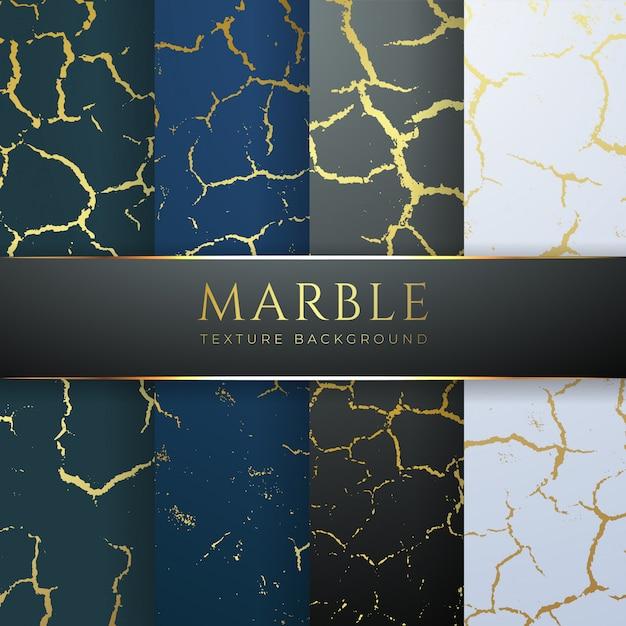 Złote Tło Marmurowe Tekstury Premium Wektorów