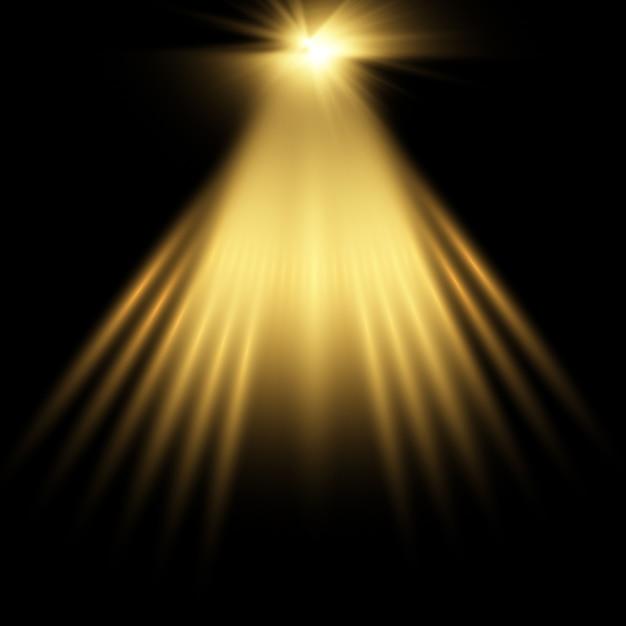 Złote tło reflektorów Darmowych Wektorów