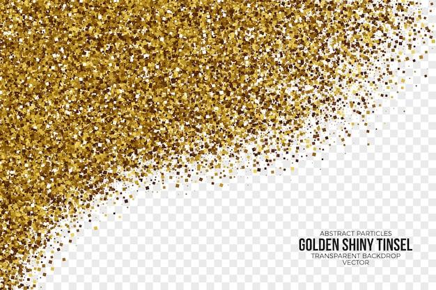 Złoty Błyszczący świecidełko Abstrakcjonistyczny Wektorowy Tło Premium Wektorów