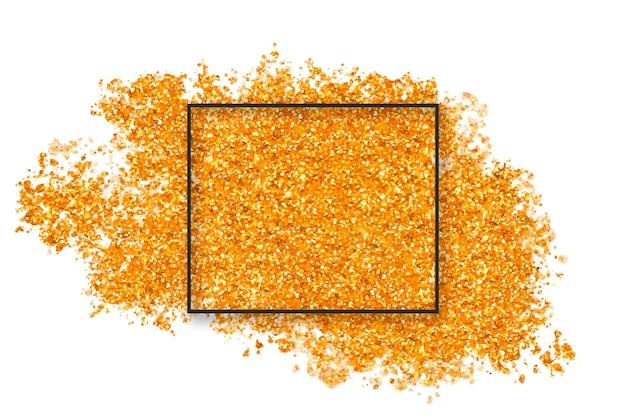 Złoty Brokat Plusk Z Kwadratem Darmowych Wektorów