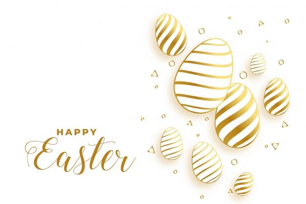 Złoty Easter Dni Jajek Festiwalu Tło Darmowych Wektorów