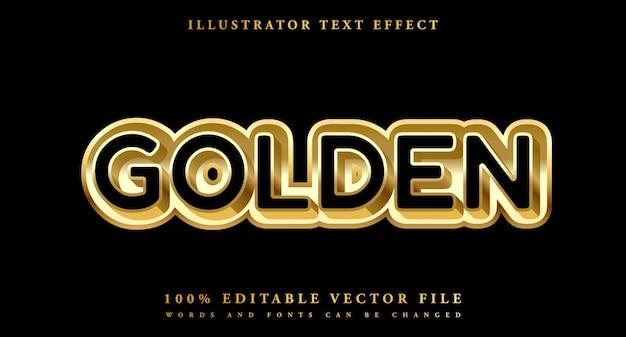 Złoty Efekt Edycji Tekstu Premium Premium Wektorów