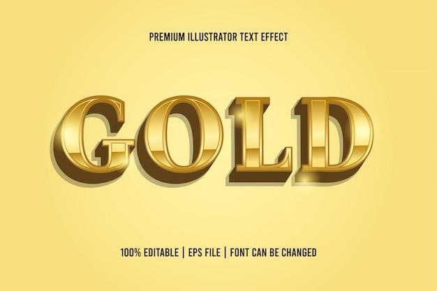Złoty Efekt Edycji Tekstu Premium Wektorów