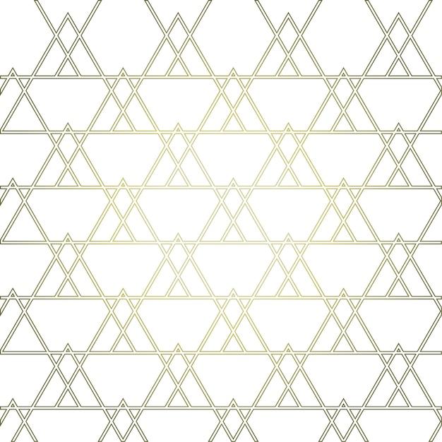 Złoty Geometryczny Wzór Z Trójkątami Premium Wektorów