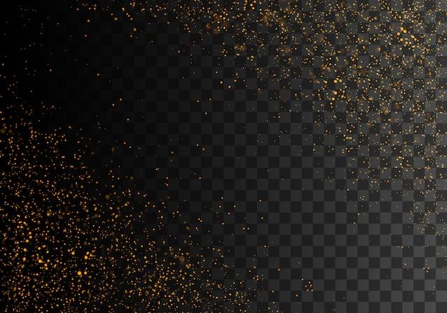 Złoty Iskrzący Pył Premium Wektorów