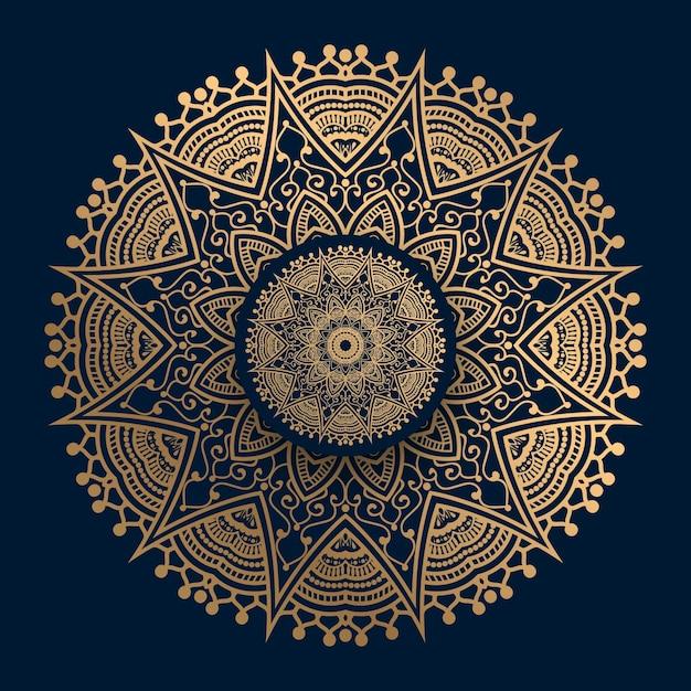 Złoty Mandali Wzór Islamu Premium Wektorów