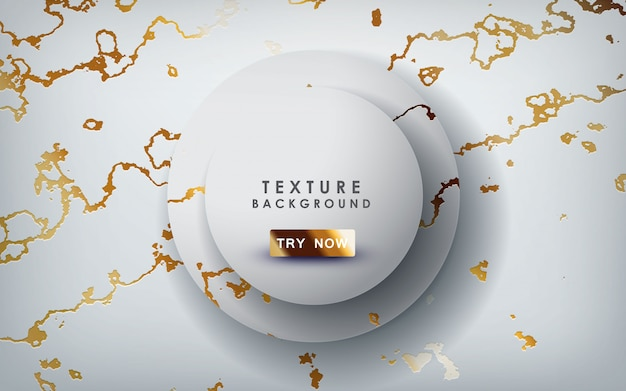 Złoty Marmur Tekstury Z Warstwami Koła Premium Wektorów