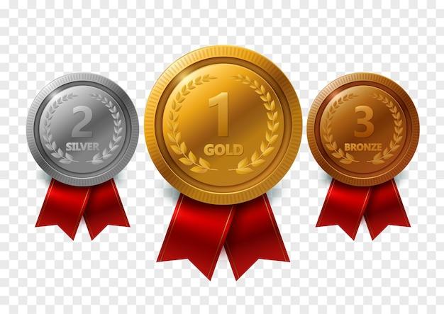 Złoty medal Premium Wektorów