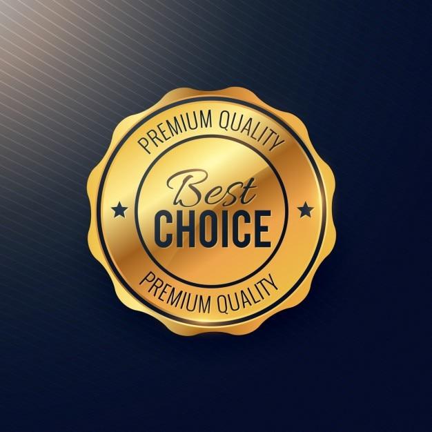 Złoty najlepszy projekt wybór odznaka Darmowych Wektorów