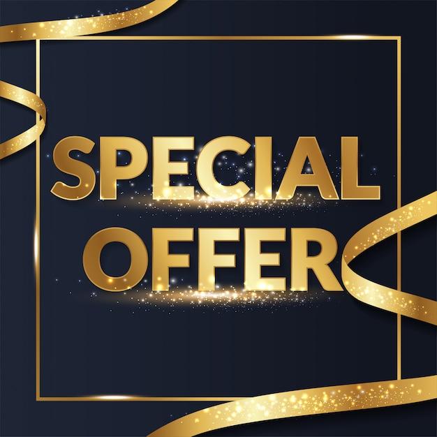 Złoty Premium Specjalna Oferta Promocyjna Promocja Sprzedaży Dla Mediów Społecznościowych Premium Wektorów