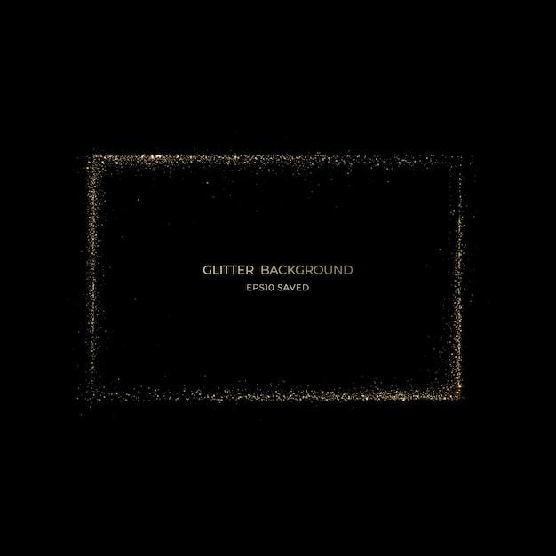 Złoty Pył Gwiezdny światło, Brokatowe Tło Premium Wektorów