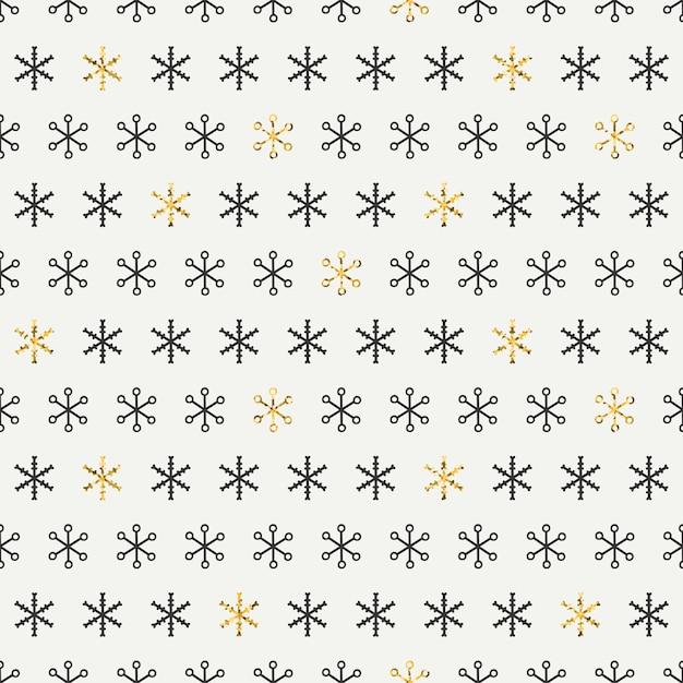 Złoty wzór płatki śniegu. Premium Wektorów