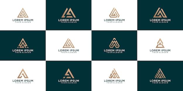 Złoty Zestaw Kreatywny Projekt Listu Dla Biznesu Premium Wektorów
