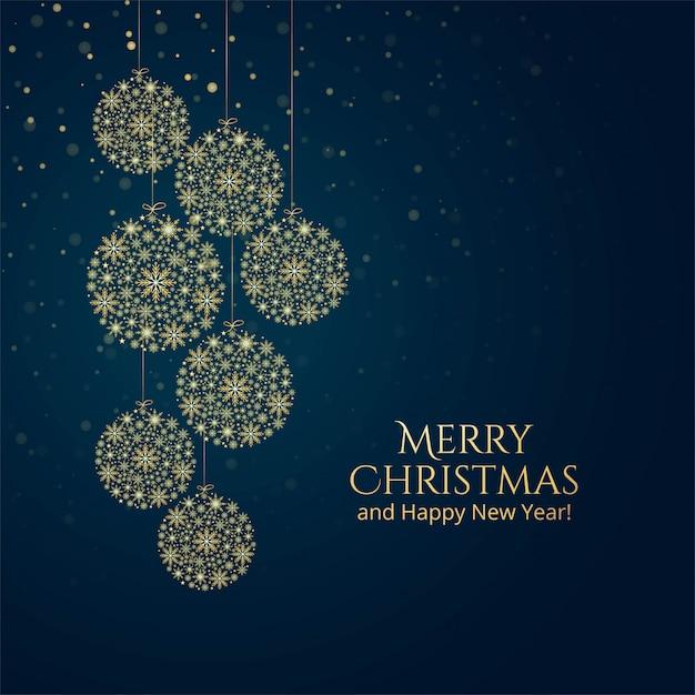 Złotych snoflakes świętowania dekoracyjny balowy tło Darmowych Wektorów