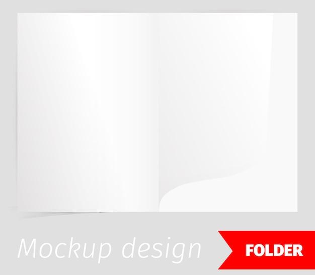 Złożyć realistyczny makieta projektu z efektem cienia Darmowych Wektorów
