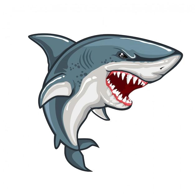 Zły rekin Premium Wektorów