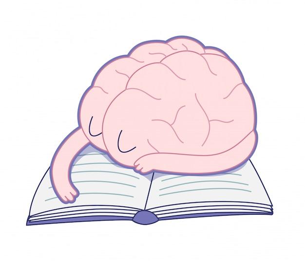 Zmęczony mózg Premium Wektorów