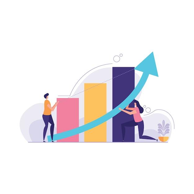 Zmiana Ilustracji Kierunku Biznesowego Premium Wektorów