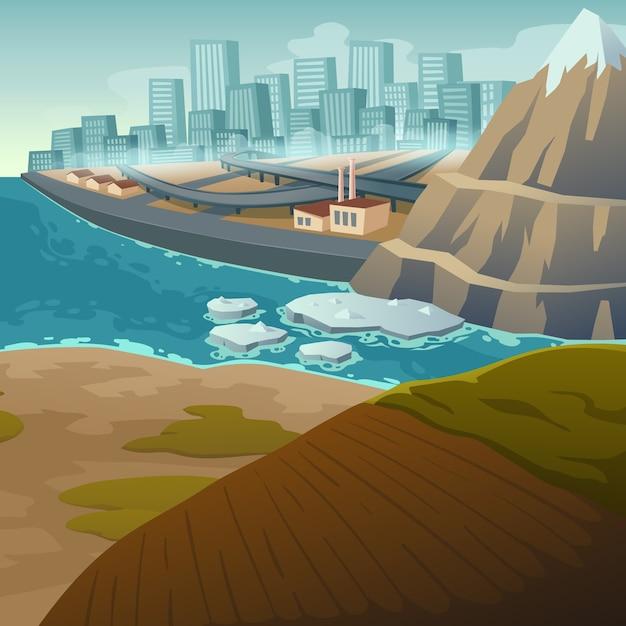 Zmiana Klimatu I Topnienie Lodowców Darmowych Wektorów