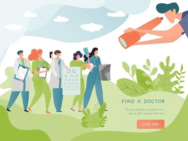 Znajdź Ilustracja Transparent Lekarz. Wyszukaj Usługę Online Lekarza. Koncepcja Medycyny I Opieki Zdrowotnej. Doktorski żeński Stetoskop Premium Wektorów