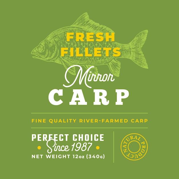 Znak Jakości świeżych Filetów Premium Wektorów