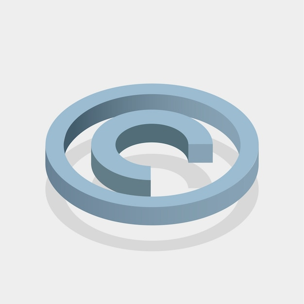 Znak praw autorskich Darmowych Wektorów
