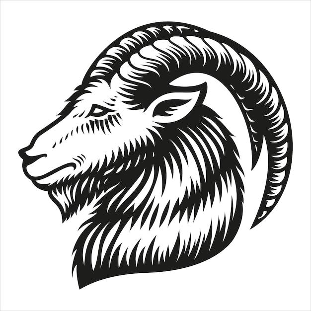 Znak Zodiaku Koziorożec Na Białym Tle Premium Wektorów