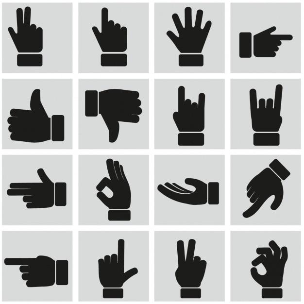Znaki ręczne Darmowych Wektorów