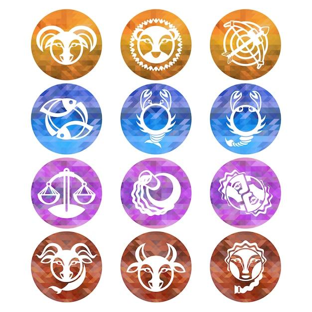 Znaki Zodiaku Premium Wektorów