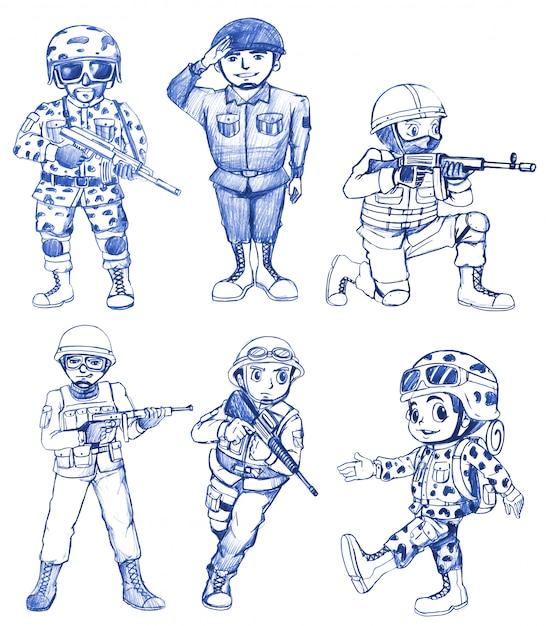 Żołnierz Darmowych Wektorów