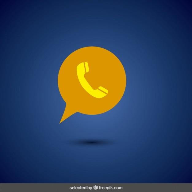 Żółta ikona telefonu Darmowych Wektorów