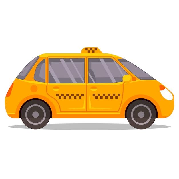 Żółta Taksówka Ilustracja Premium Wektorów