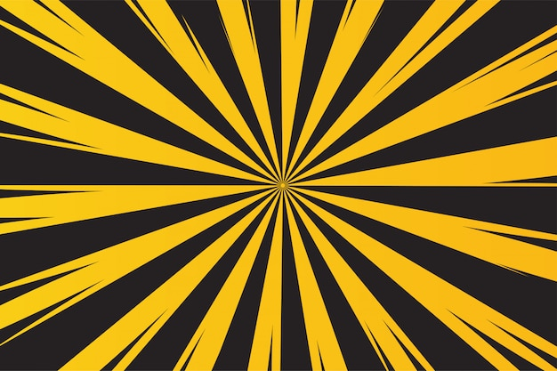 Żółte i czarne tło promieni ostrzeganie przed niebezpieczeństwem. Premium Wektorów