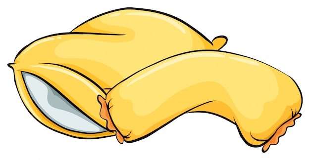 Żółte poduszki Darmowych Wektorów