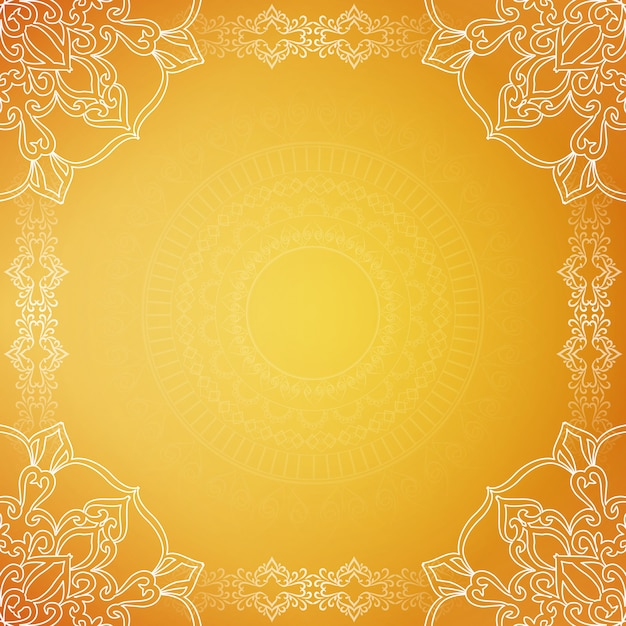 Żółte stylowe luksusowe tło Darmowych Wektorów