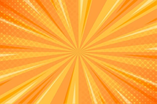 Żółty komiczny tło z halftone Darmowych Wektorów