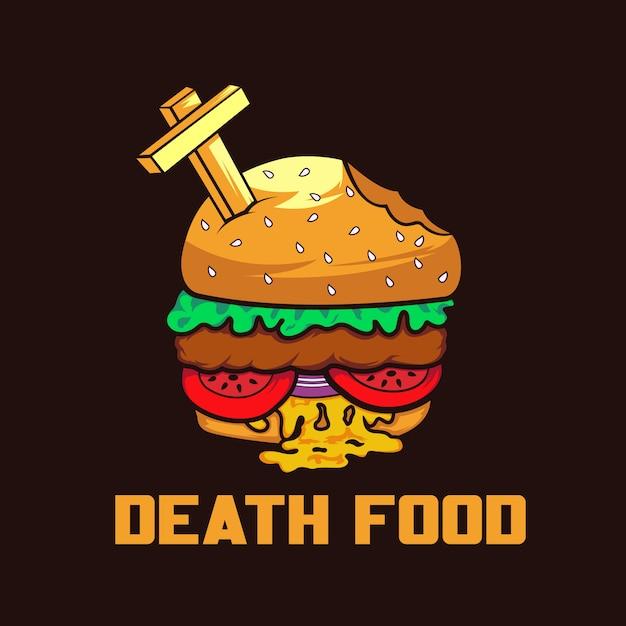 Zombie Burger, Ilustracja Jedzenie Premium Wektorów