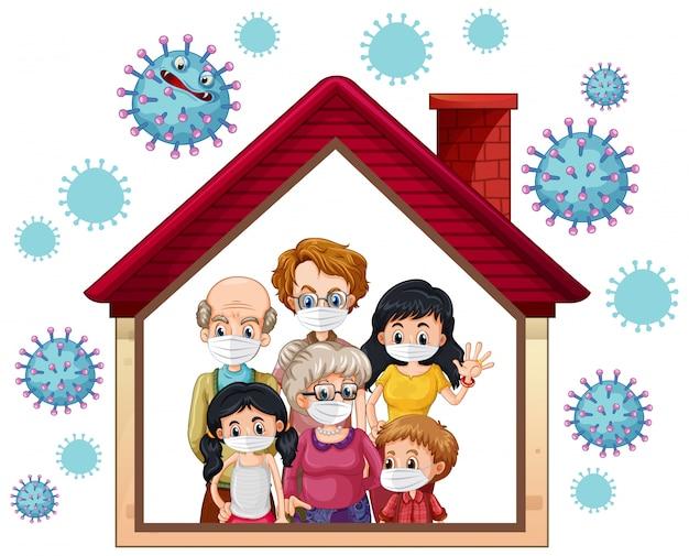 Zostań W Domu, Aby Zapobiec Koronawirusowi Darmowych Wektorów