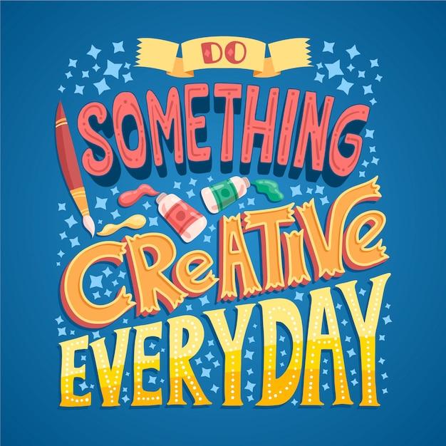 Zrób Coś Kreatywnego Znanego Projektu Darmowych Wektorów