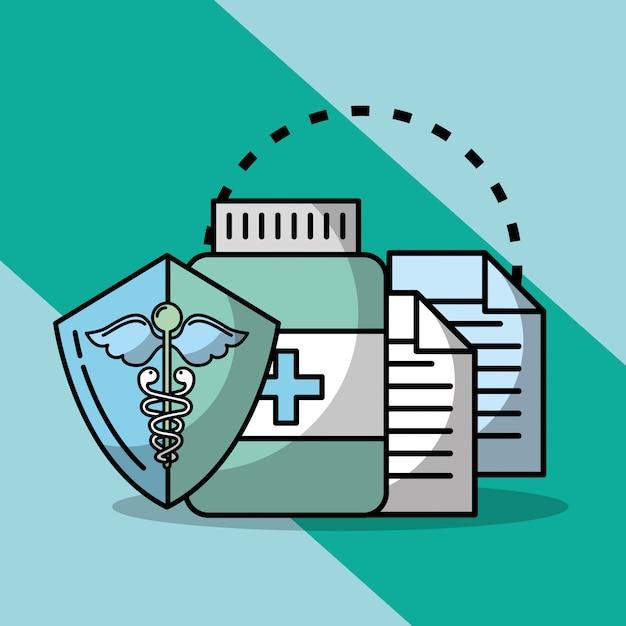 Związane z medycyną medyczną Premium Wektorów