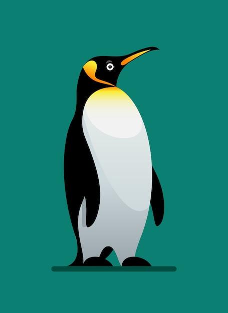 Zwierzę Zimowe Pingwina Premium Wektorów