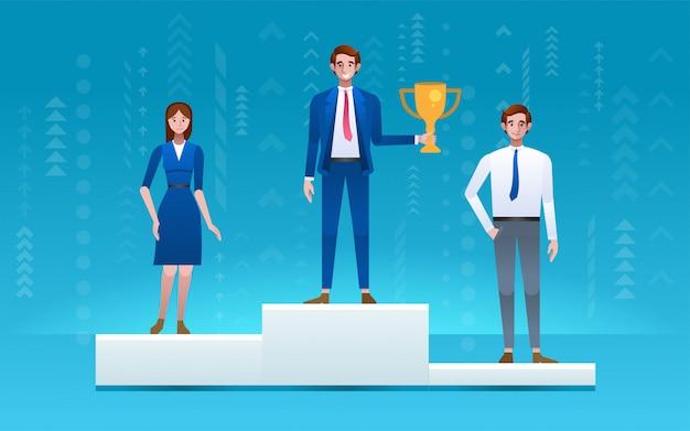 Zwycięzca Konkursu Biznesowego. Premium Wektorów