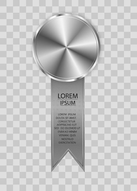 Zwycięzca Nagrody W Konkursie Medal I Baner Na Tekst Medale Award Na Białym Tle Premium Wektorów
