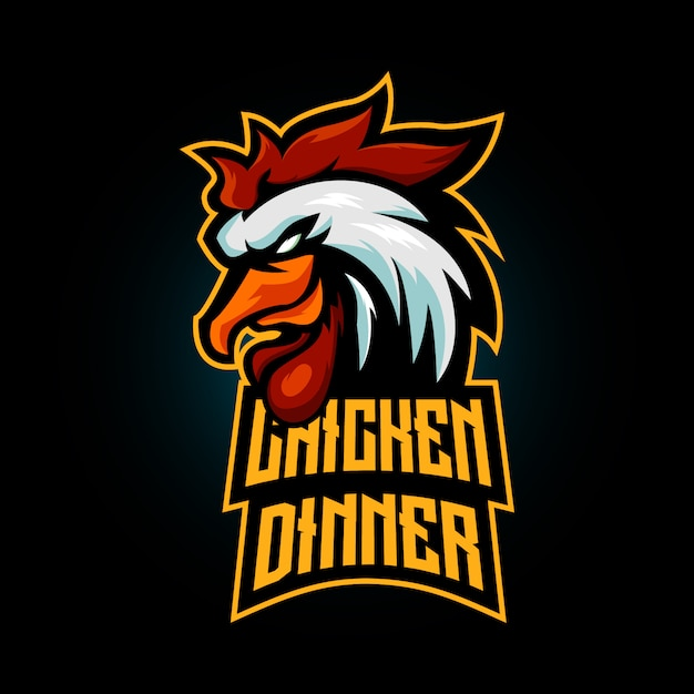 Zwycięzca Zwycięzca Maskotka Obiad Z Kurczaka Premium Wektorów