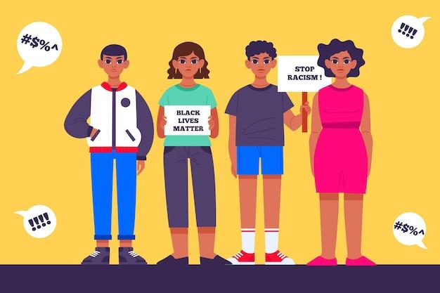 Życie Czarnych Ludzi Ma Znaczenie Darmowych Wektorów